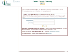 Tablet Preview of cedarsuudirectory.org